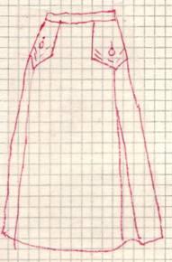 фасон юбки с клапанами