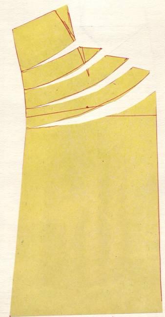 крой юбки с фигурным патом и драпировкой