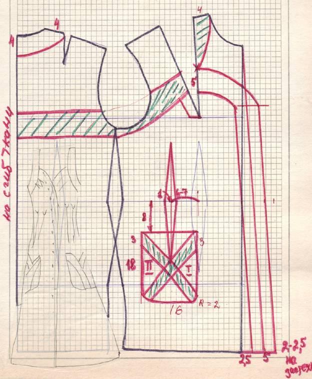 чертеж летнего пляжного сарафана
