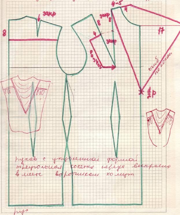 Выкройка платья в пол из трикотажа