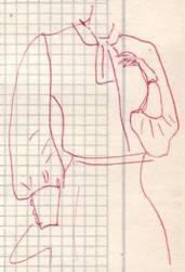 фасон Длинный расклешенный рукав на высокой узкой манжете