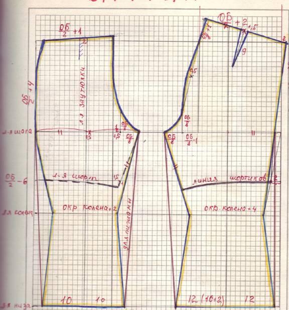 Скачать выкройку брюк-стретч для девочки бесплатно на нужный размер