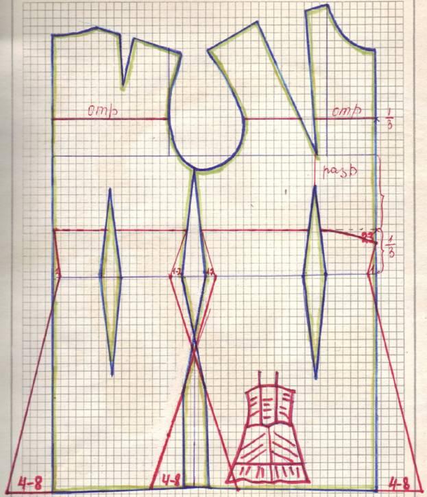 чертеж летнего сарафана