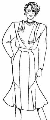 юбка с подрезами и оборками сбоку