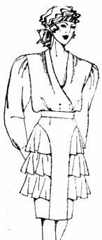 юбка с оборками сбоку