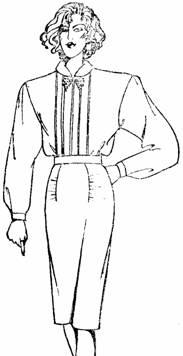 юбка с драпировкой по линии вытачки