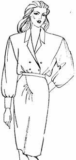 юбка с ассиметричной драпировкой по переднему полотнищу