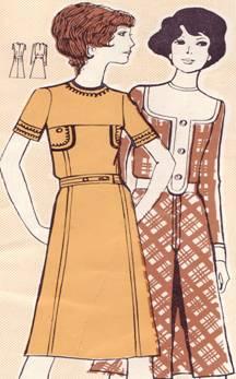 Платье из шерстяной ткани неотрезное