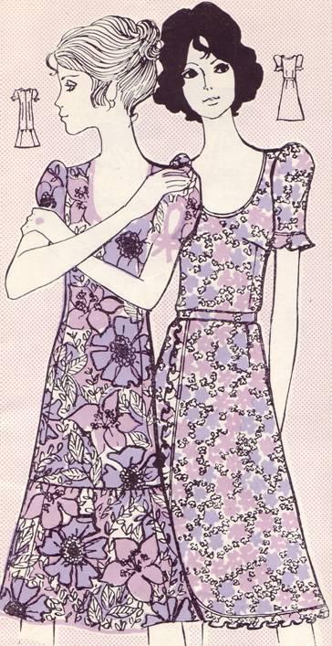 Фасон и выкройка летнего платья