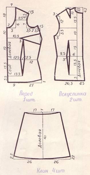 Выкройка цельнокроеное расклешенное платье