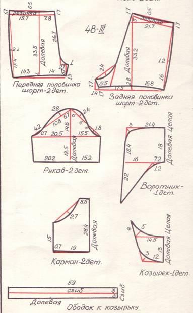 Летние мужские шорты выкройка