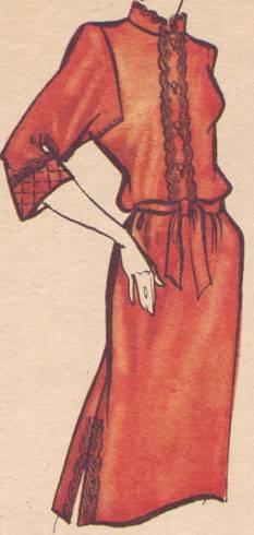 Платья с проймой реглан
