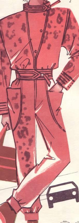 Фасон женского комбинезона, выкройка