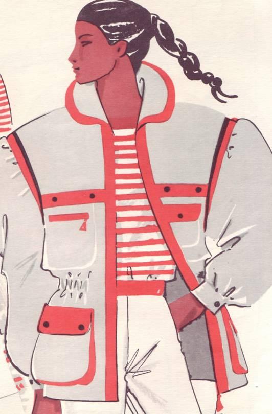 женская куртка из плащевой ткани выкройка
