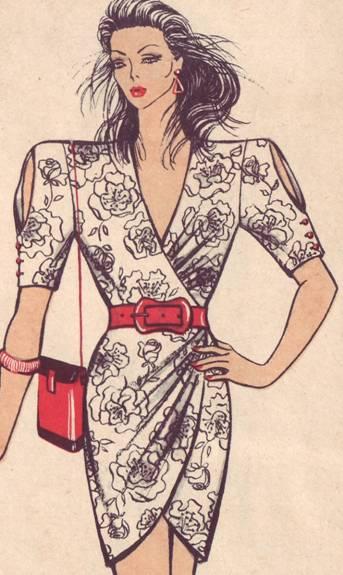фасон платья с асиметричной драпировкой