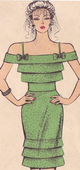 фасон платья с двойными бейками