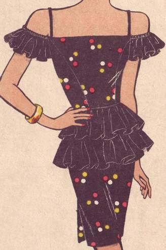 фасон платья с оборками
