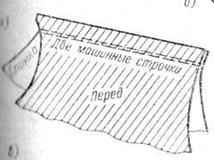соединение полочки и спинки
