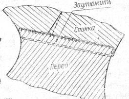 заутюжка плечевого шва