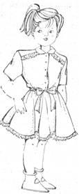 фасон детского платья с коротким рукавом