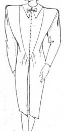 фасон платья с длинным зауженным рукавом