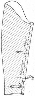 обработка низа длинного зауженного рукава