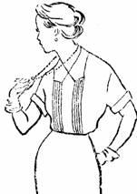 блуза сфигурным отложным воротником и защипами