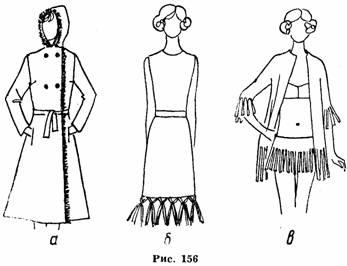 Виды отделки женского платья детской одежды
