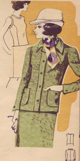 Фасон и выкройка костюма тройки