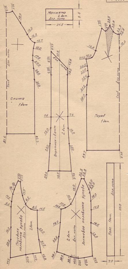 Схема выкройки платья трапеции