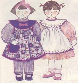 Выкройка детского платья кокеткой